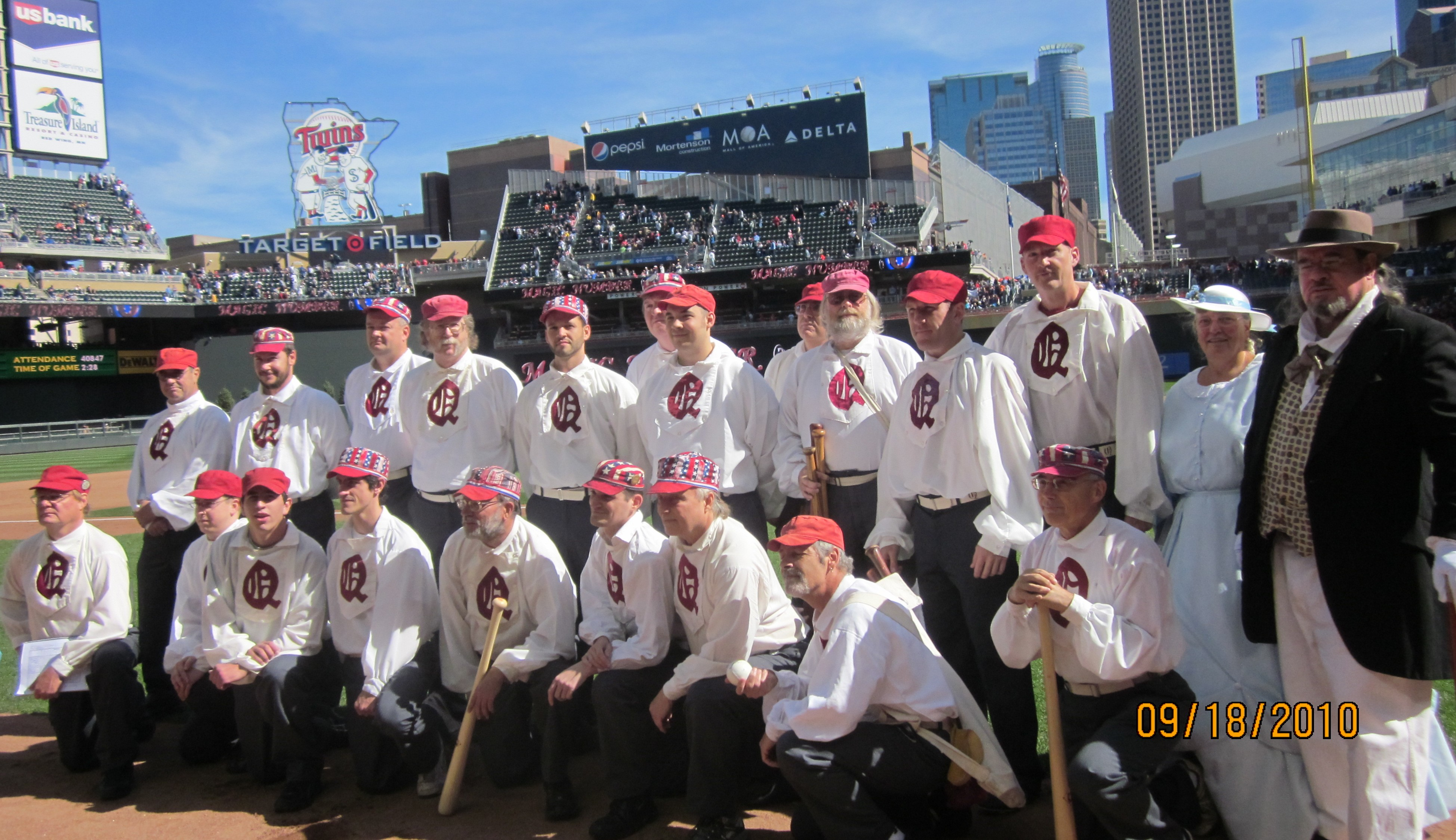 photo of Quicksteps base ball club at Target Field